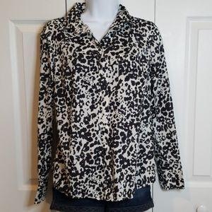 J. Crew Snow Leopard Long sleeve Button Up 4